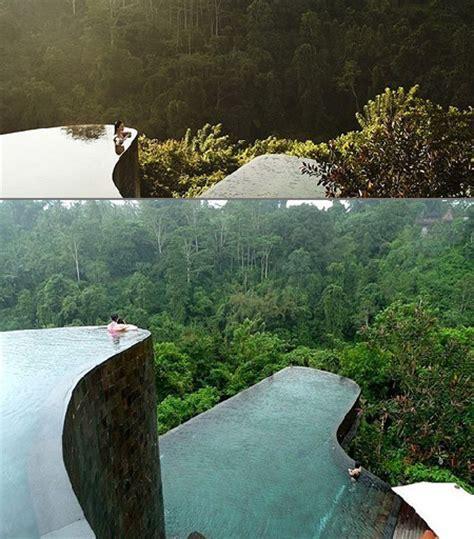 hanging infinity pools in bali stunning look at the ubud hanging gardens infinity pools