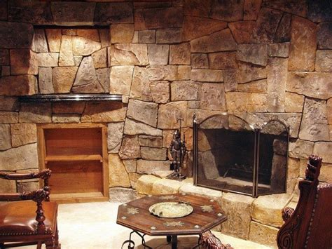Rock Fireplace Wall by Rock Fireplaces In The House Decor Around The World