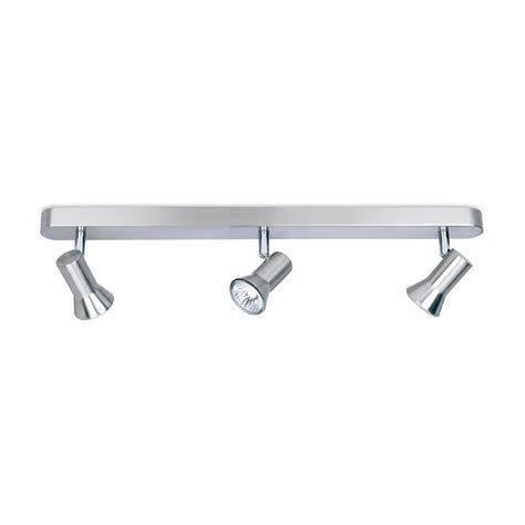 firstlight 6092bs magnum 3 light brushed steel ceiling bar