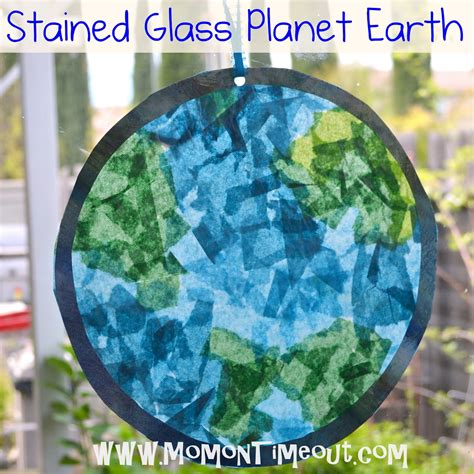 Preschool Crafts For Earth Day Stained Glass Craft