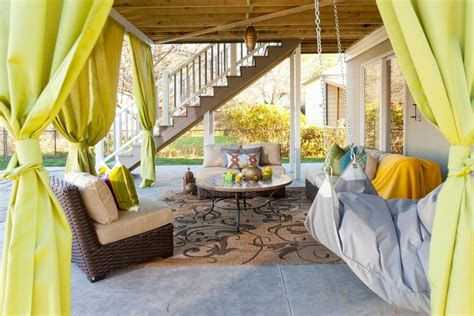 Outdoor Trellis Rug Making Custom Diy Curtains For Your Porch Or Patio