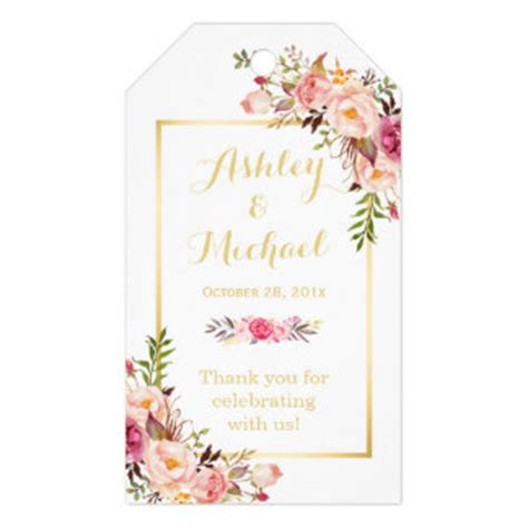 design flower tag gift tags zazzle