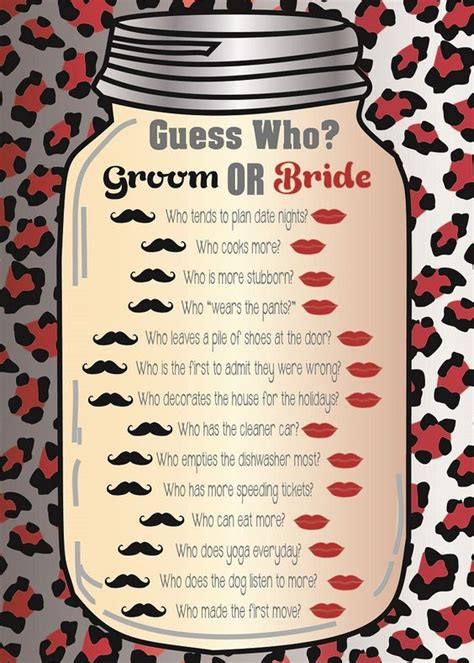 Guess Who Bridal Shower by Guess Who Bridal Shower Wedding