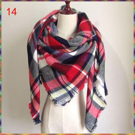 2015 za winter autumn scarf knit oversize blanket tartan
