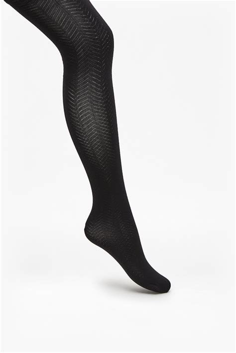 patterned tights macy s french connection chevron pattern tights in black lyst