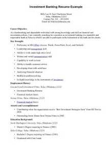 finance internship cover letter sle real estate investment banking resume sales banking
