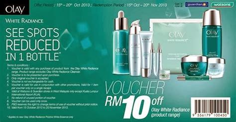 Olay White Radiance Malaysia i freebies malaysia promotions gt olay white radiance range products rm10 voucher