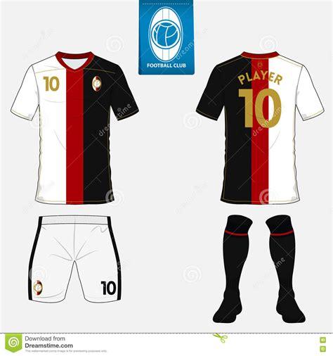 jersey design illustrator set of soccer kit or football jersey template flat logo