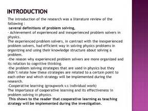 Literature Review How To Write Introduction by Research Method Critique On Problem Solving