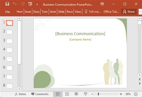Business Communication Powerpoint Presentation Templates Business Communication Powerpoint Template