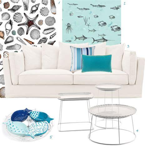 arredare al mare arredare casa al mare con divano bianco e accessori
