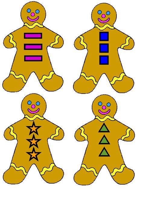 gingerbread man matching game printable www preschoolprintables com file folder game