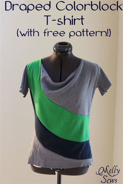t shirt pattern to color color blocked tee tutorial and free pattern the daily seam