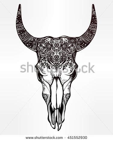 tribal bull skull tattoos best 25 bull skull tattoos ideas on bull