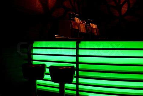 bar  green neon lights stock photo colourbox