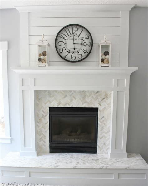 new fireplace design with white mantel and cream wall summer white diy projects page 3 of 9 sand and sisal