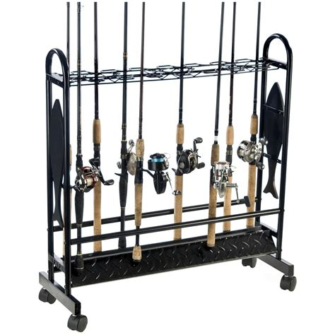 Fishing Rod Racks For Home by Organized Fishing 16 Rod Fish Metal Rod Rack With