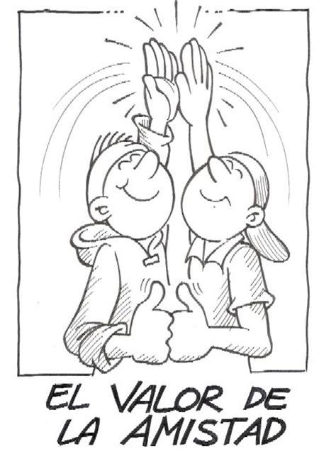imagenes de valor amor para colorear valor de la amistad dibujalia dibujos para colorear