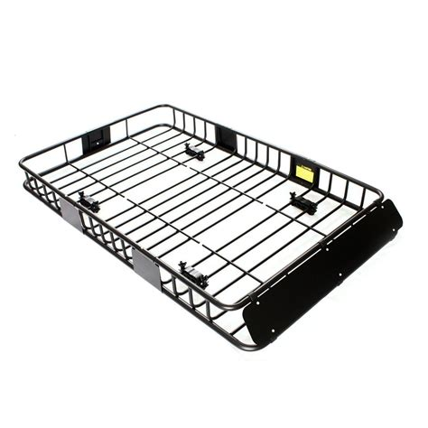 Rack Roof 64 quot black universal roof rack w extension cargo top luggage carrier basket ebay