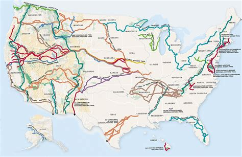 map us national park system national trails guide america s greatest adventures