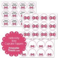 diy free hello kitty cupcake topper justlovedesign