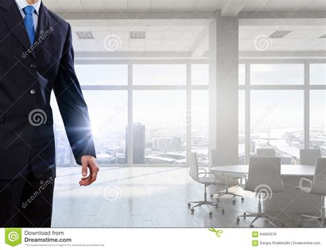 Level Office by Businessman In Top Level Office Stock Photo Image 64694379