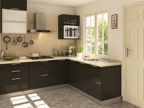 l shaped modular kitchen designs hudson l shaped modular kitchen designs india homelane
