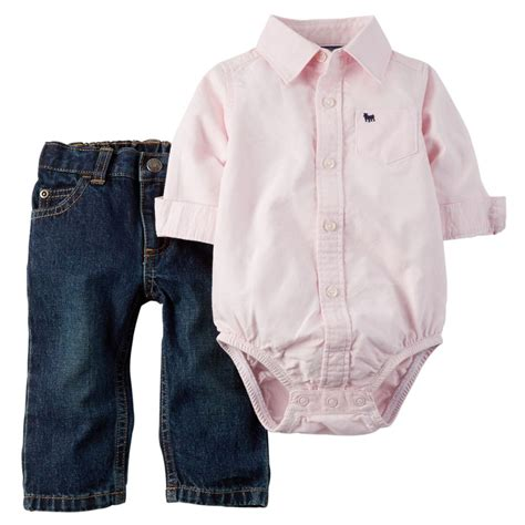Carters Pant 3 In 1 24 Month carters newborn oxford bodysuit set baby boy clothes ebay