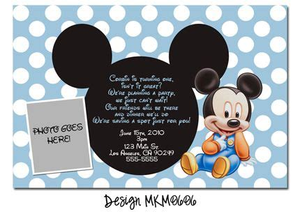 baby mickey mouse invitation template baby mickey mouse birthday invitation birthday