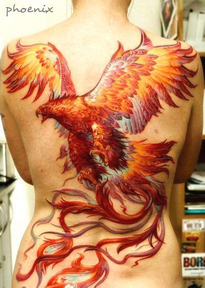 phoenix tattoo heart full back phoenix tattoo design with very vivid color