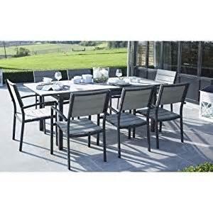 salon de jardin polywood 1 table jardin 8 fauteuils de