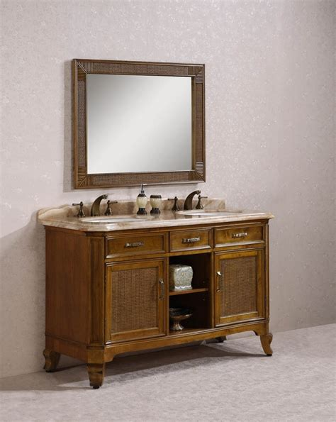 60 inch sink bathroom vanity with travertine top