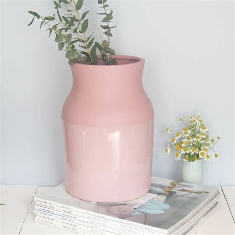 Large Pink Vase by Large Dipped Pink Vase By Iamia Notonthehighstreet