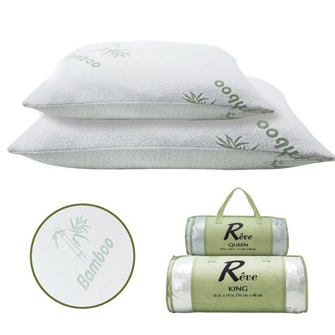 bamboo pillow with cool comfort removable bamboo pillow memory foam hypoallergenic cool