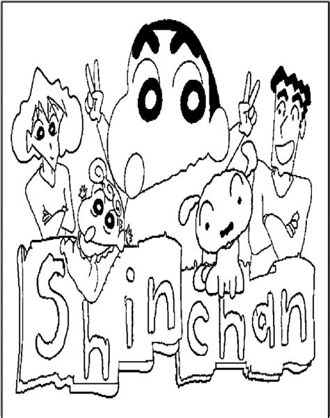 crayon shin chan and family coloring pages 295343 crayon