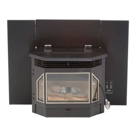 pellet burning fireplace inserts englander 2 000 sq ft pellet burning fireplace insert 25