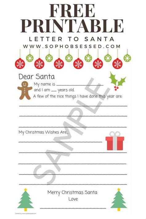 letter santa christmas printable soph obsessed