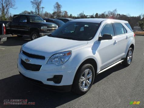 chevrolet equinox white 2011 chevrolet equinox ls awd in summit white 304340