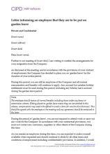 Acceptance Resignation Letter Garden Leave Resignation Hr Inform