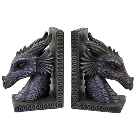 dragon bookends purple dragon bookends dragon gifts fairyglen com