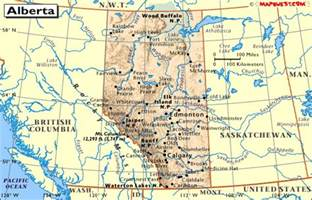 canada provincial map of alberta