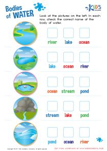 bodies of water worksheet learn human worksheets for grade 2