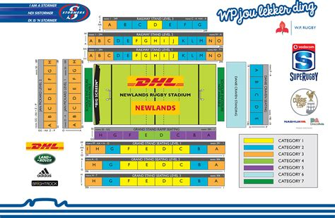 Stadium Plan the stormers tickets still available for dhl stormers v