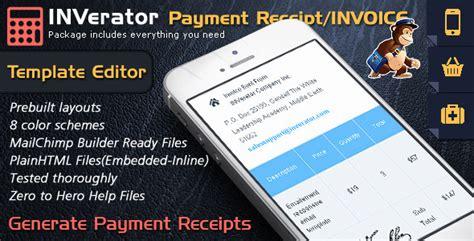 mailchimp receipt template invoice template ecommerce email builder payment receipt