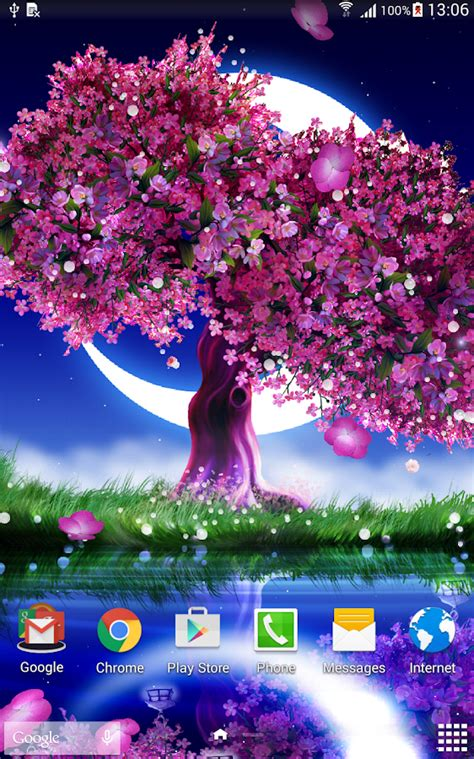 cherry tree app cherry blossom live wallpaper android apps on play