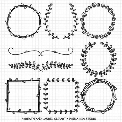 Laurel Wedding Clipart by Wreaths And Laurel Clipart Graphics Borders And Frames