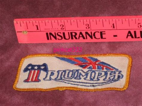 Vintage Triumph Embroidered Motorcycle Patch Jacket Kaos Kemeja Topi find vintage 80 s triumph motorcycle patch 4 25 x 2 embroidered sew on hat jacket motorcycle in
