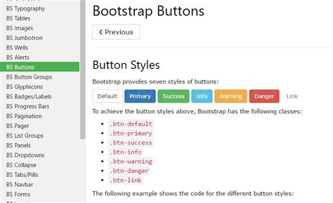 bootstrap tutorial in w3schools bootstrap button css