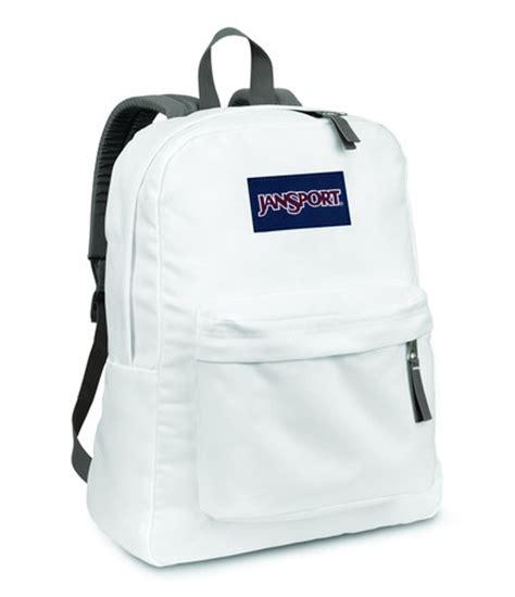 Tas Jansport Light Blue jansport superbreak backpack white with a light blue teal monogram back to school