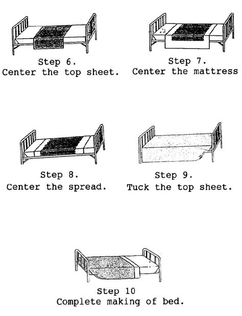 correct way to make a bed 3 04 making the ambulatory patient s bed basic patient